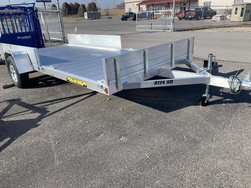 2020 Aluma 8114S-R-BT-SR Utility Trailer