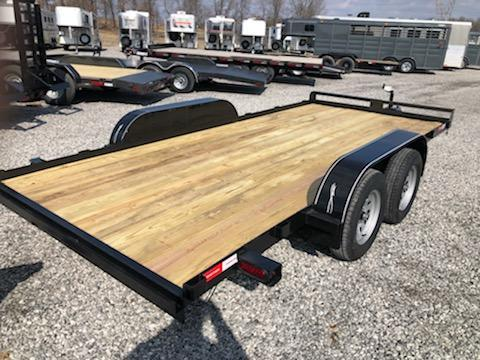 2020 Lawrimore 83x16 Flat Car / Racing Trailer