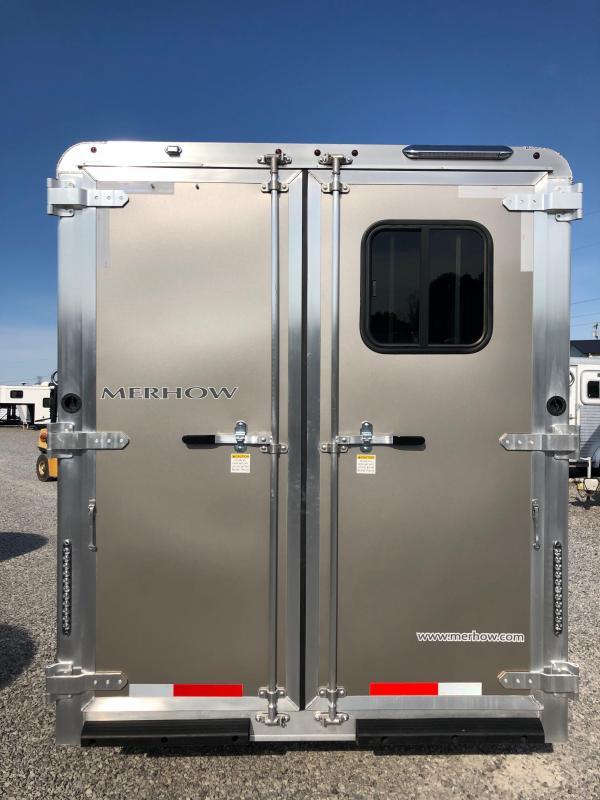 2019 Merhow Bronco 3H BP Horse Trailer