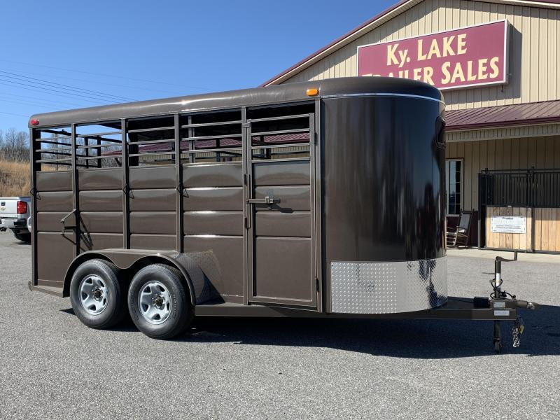 2020 Calico Trailers 16x6x7 BP Stock Livestock Trailer
