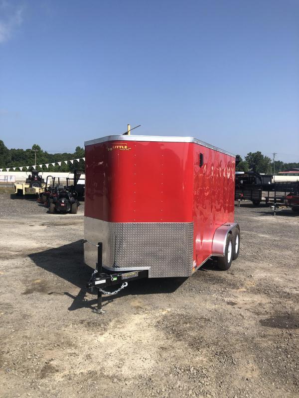 2019 Doolittle Trailer Mfg 6x12 TA Red Ramp Door Enclosed Cargo Trailer