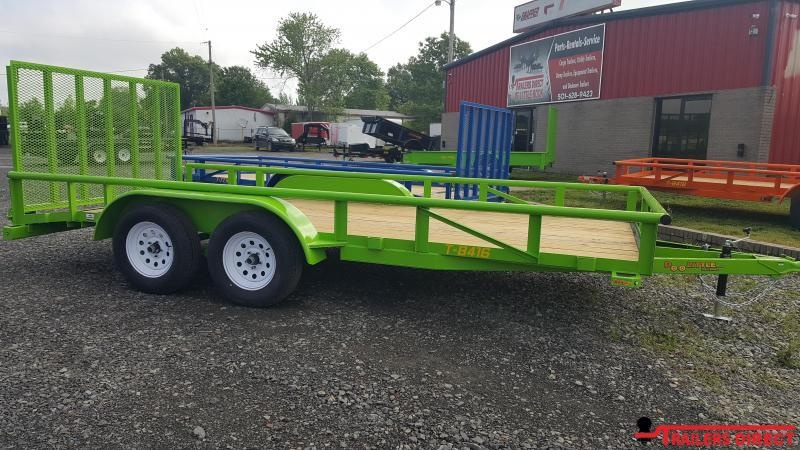 2018 Doolittle Trailer Mfg Pipe Top 84x16 Utility Trailer