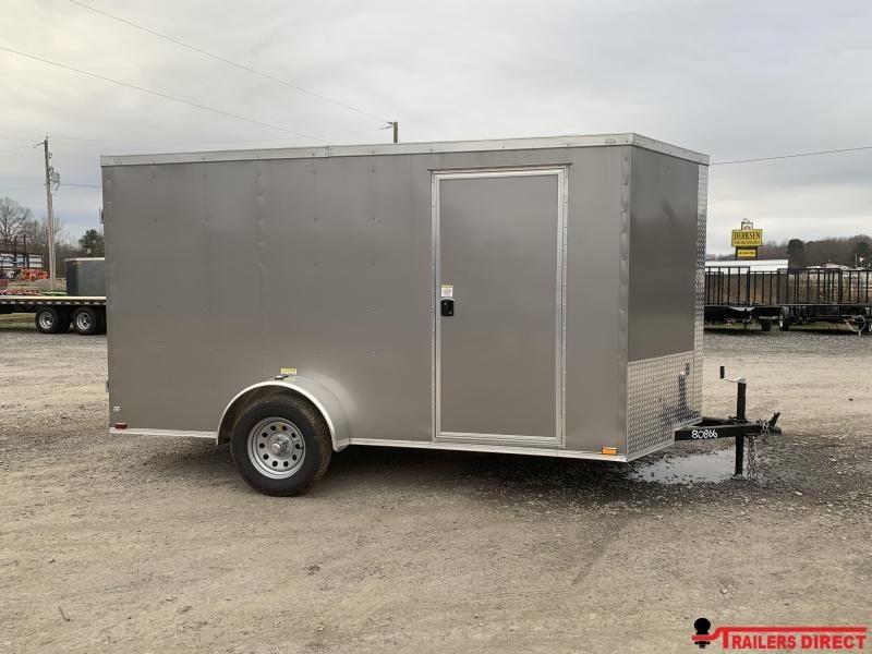 2019 Doolittle Trailer Mfg Razorback 6x12SA Pewter Barn Door Enclosed Cargo Trailer