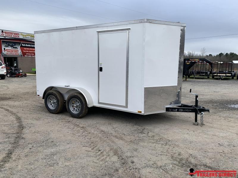 2019 Doolittle Trailer Mfg Razorback 6x12TA White Ramp Door Enclosed Cargo Trailer