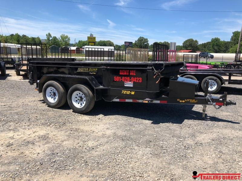2018 Doolittle Trailer Mfg 72x12 Masterdump 10K GVWR Dump Trailer