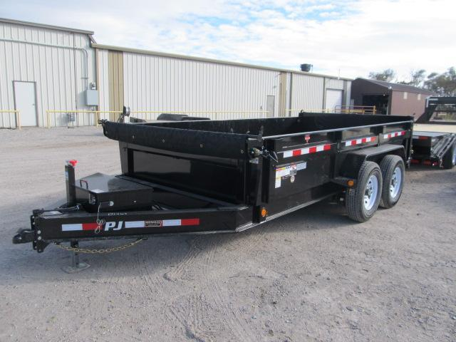 "2019 PJ Trailers 83"" x 14 Low Pro Dump Trailer w/ Tarp"