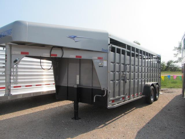 "2018 Travalum 6'8"" x 20' Stock Trailer"