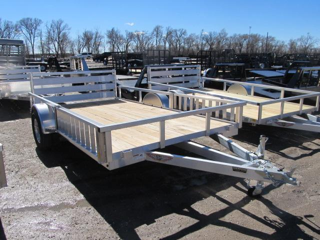 """2019 H and H 82"""" x 12 Aluminum Utility Trailer"""