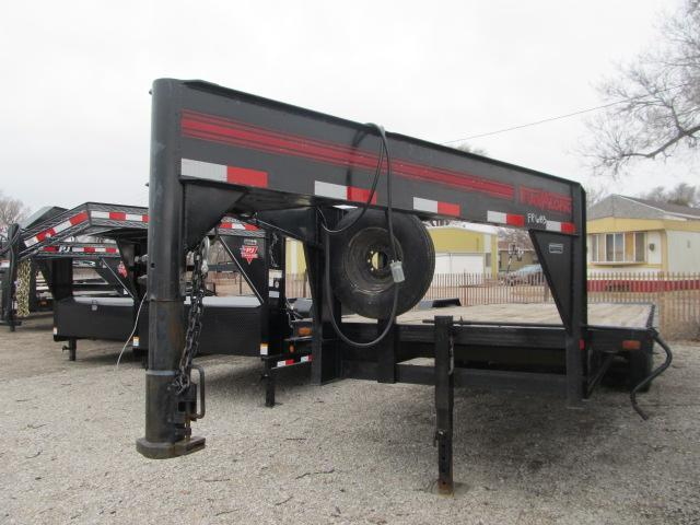 1995 Travalong 8.5 x 24 ft Flatbed Gooseneck Trailer