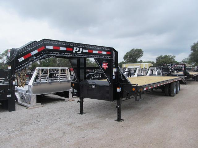 2019 PJ 8.5 x 30 Gooseneck Flatbed w/ Monster Ramps