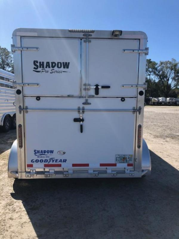2015 Shadow Trailers 2 horse straight load gooseneck Pro Series Horse Trailer