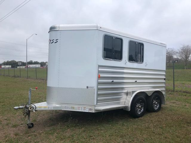 2020 Exiss Trailers 2 horse bumper pull XT w/dressing room Horse Trailer