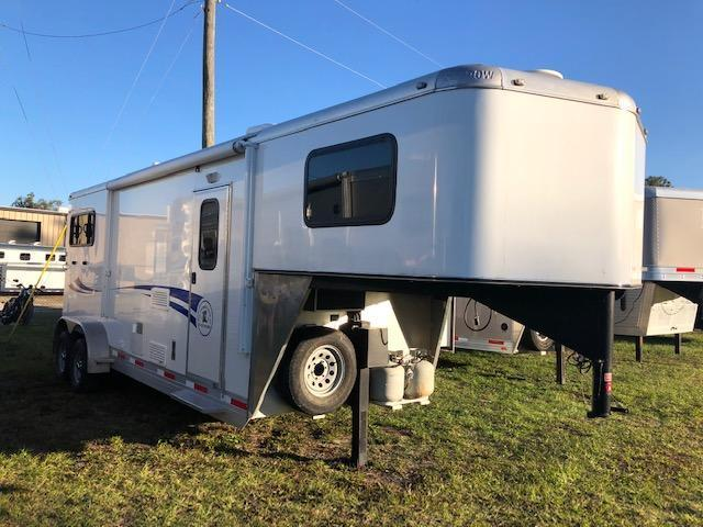 2016 Shadow Trailers 2 horse w/ 9' lq and slide Horse Trailer