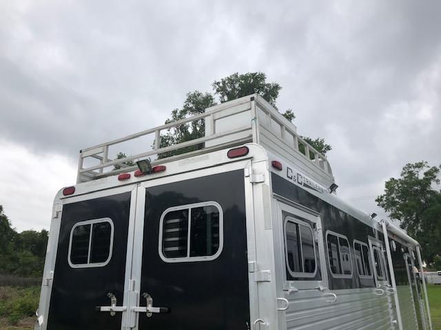 2002 C and C Trailers 8' wide 4 horse w/10' lq Horse Trailer
