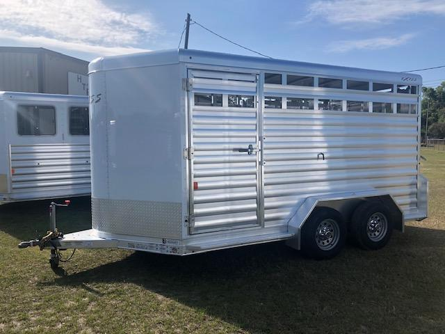 2020 Exiss Trailers 713 stock bumper pull Livestock Trailer