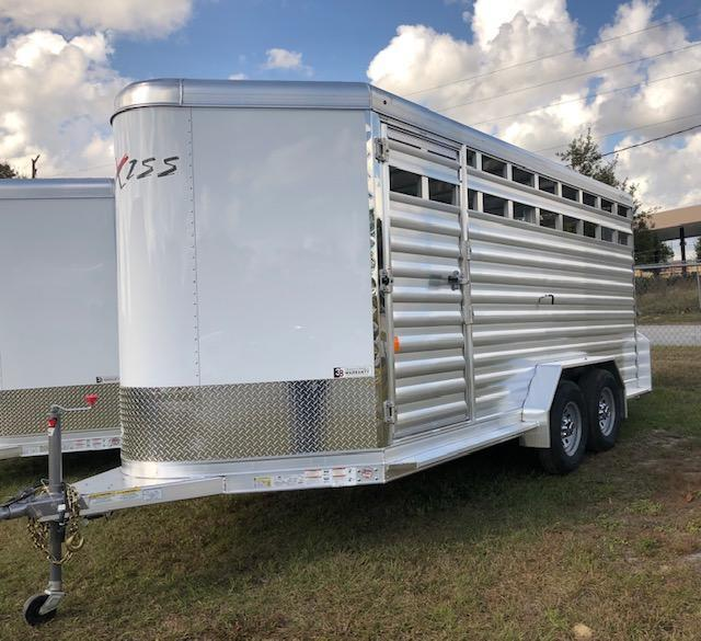 2020 Exiss Trailers stock 16 bumper pull Livestock Trailer
