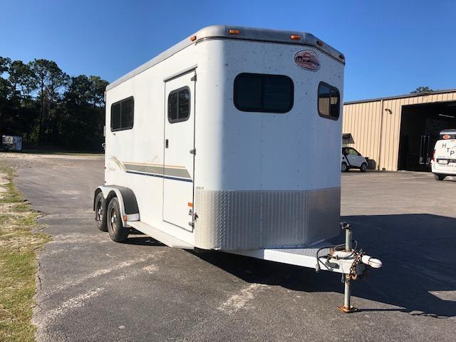 2000 Sundowner Trailers 2 horse straight load bumper pull Horse Trailer