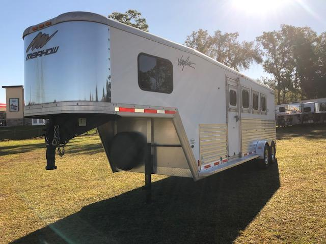 2012 Merhow Trailers 4 horse w/ 5' short wall and rear ramp Horse Trailer