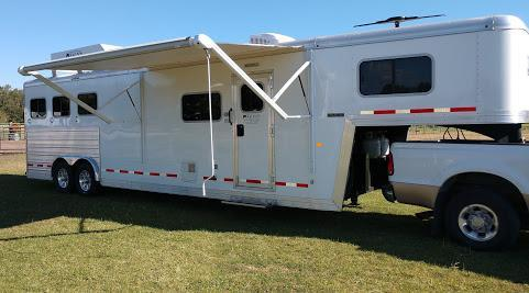 2017 Logan Coach 8 wide 3 horse w/12' lq & slide Horse Trailer
