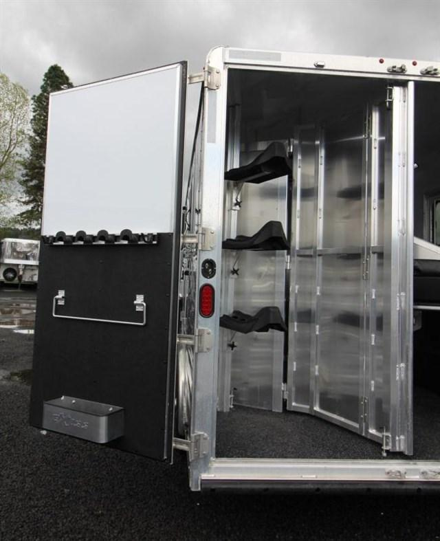 2020 Exiss Trailers 8' wide 3 horse w/12' lq and slide Horse Trailer