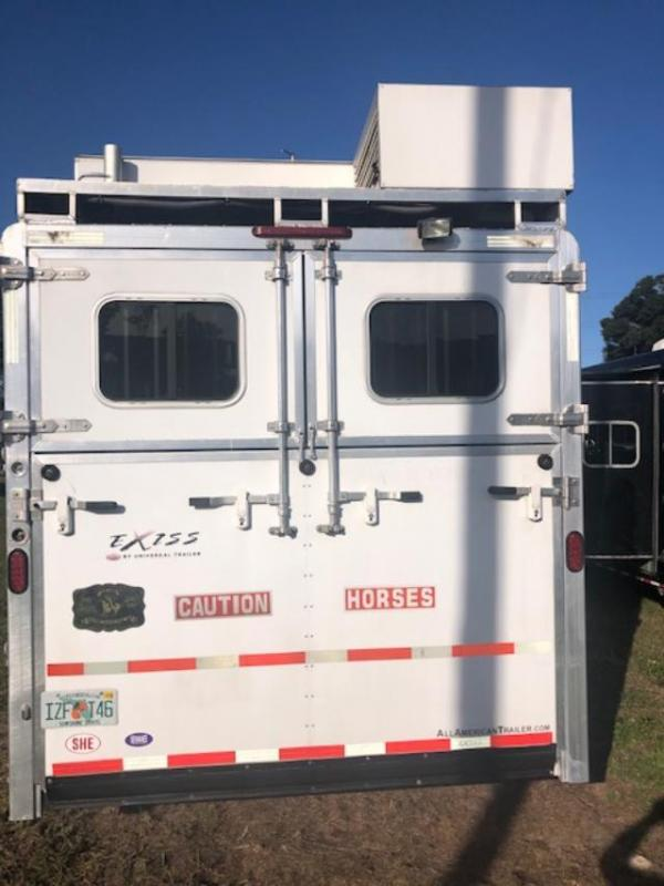 2012 Exiss Trailers 8' wide 3+1 w/ 12' lq & gen. Horse Trailer