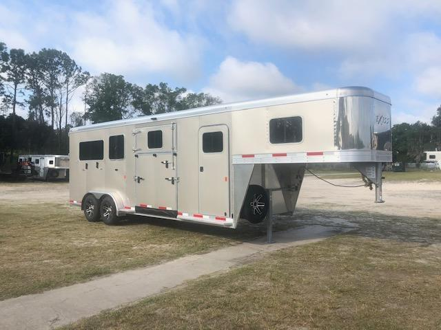 2020 Exiss Trailers 2 plus 1 gooseneck Horse Trailer
