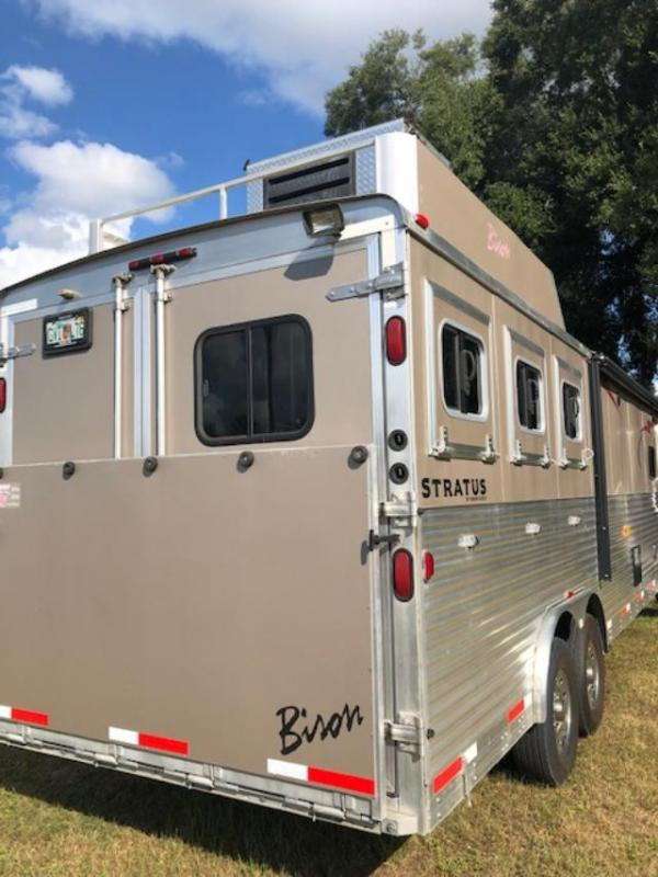 2014 Bison Trailers Stratus 8 wide 3 horse w/16' lq Horse Trailer