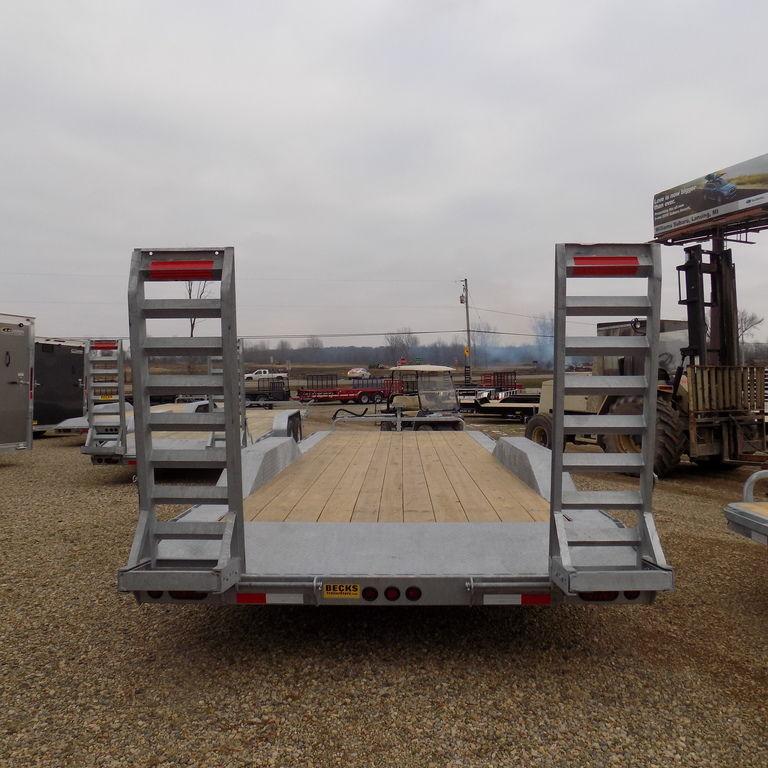 "New Galvanized 102"" x 24' Equipment Trailer for Sale - Corrosion Resistant"
