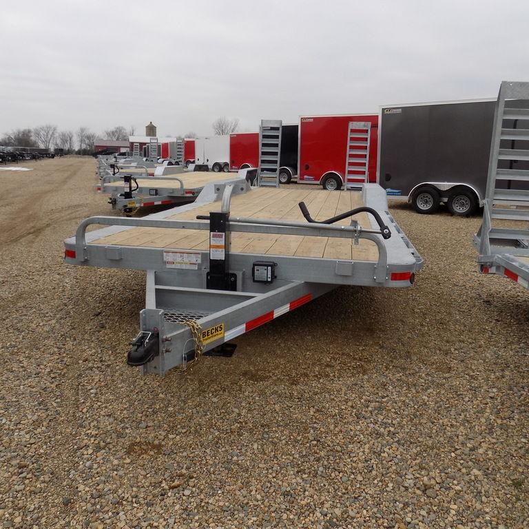 "New Galvanized 102"" x 24' Equipment Trailer for Sale - Corrosion Resistant"