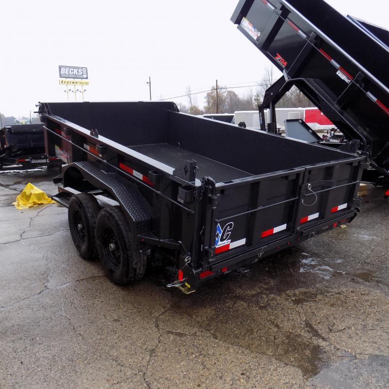 "New Diamond C 82"" x 12' Low Profile Dump Trailer For Sale - LOADED WITH FEATURES - $0 Down & Payments from $159/mo. W.A.C."