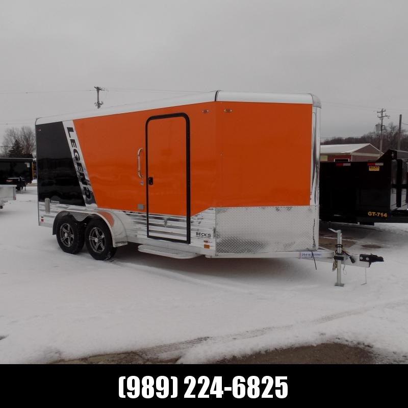New Legend Deluxe V Nose 7' X 17' Enclosed Cargo Trailer For Sale - $0 Down Payments form $130/mo. W.A.C.