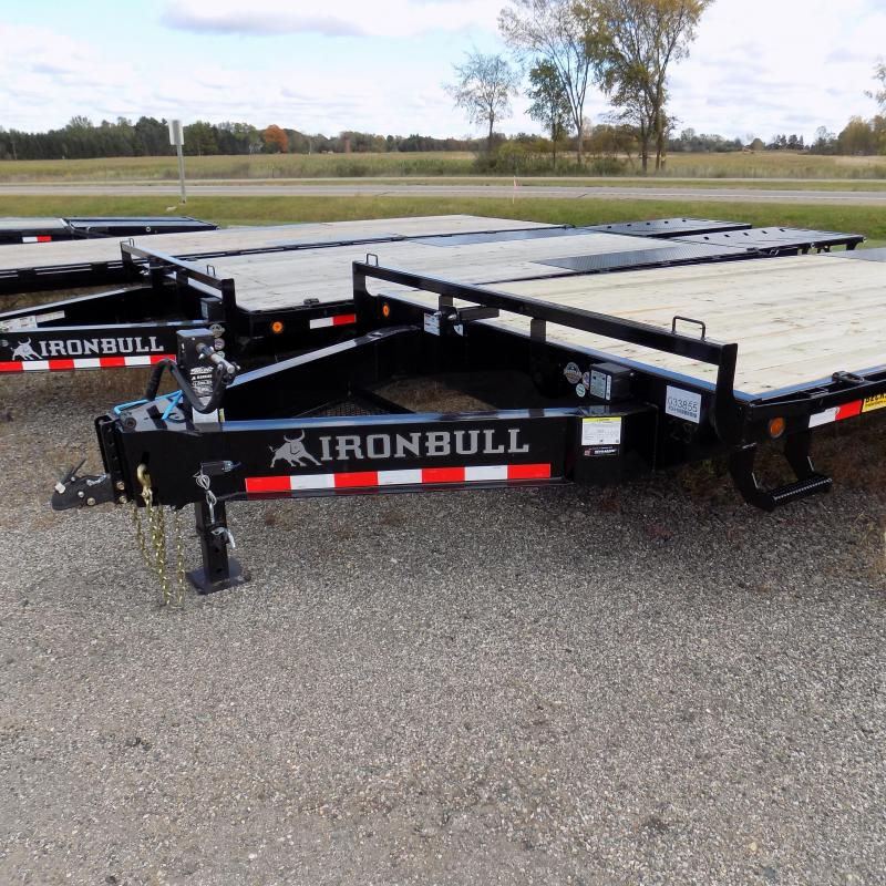 """New Iron Bull 102"""" x 25' Deckover Trailer for Sale"""