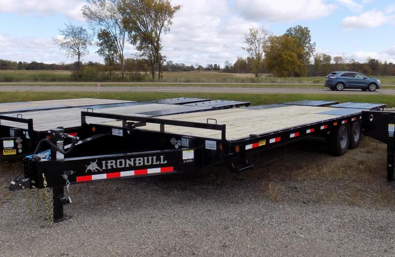 "New Iron Bull 102"" x 25' Deckover Trailer for Sale"