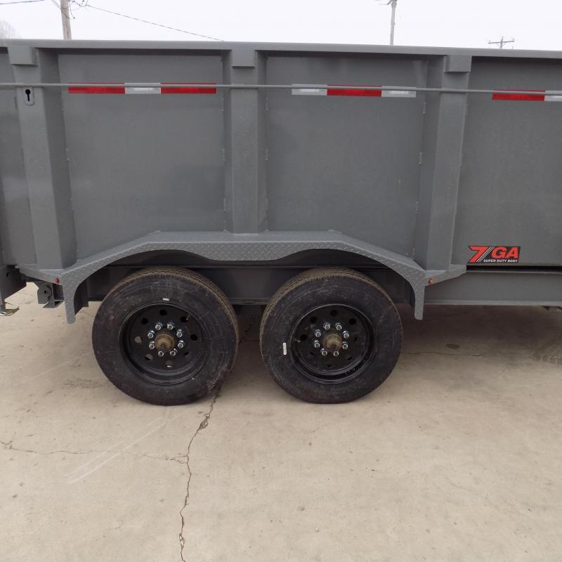 "New Diamond C 82"" x 14' Low Profile Gooseneck Dump Trailer With 10K Torsion Axles & Dual Hydraulic Jacks - $0 Down Fianancing Available"