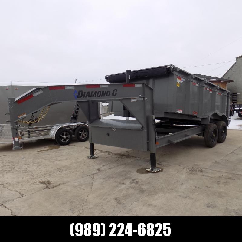 "New Diamond C 82"" x 14' Low Profile Gooseneck Dump Trailer With 10K Torsion Axles & Dual Hydraulic Jacks - $0 Down Fianancing Available"