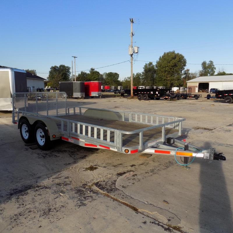 """New Galvanized 83"""" x 16' Galvanized Utility Trailer for Sale - Corrosion Resistant - Payments From $75/mo. W.A.C."""