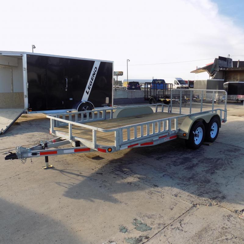 "New Galvanized 83"" x 16' Galvanized Utility Trailer for Sale - Corrosion Resistant - Payments From $75/mo. W.A.C."