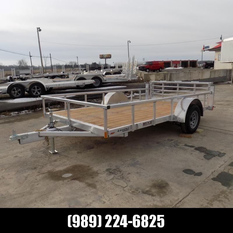 New Legend Open Deluxe 7' X 12' Aluminum Utility Trailer-$0 Down Payments From $57/mo W.A.C.