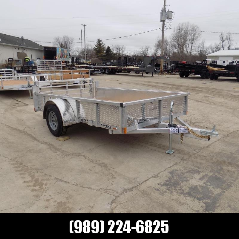 New Legend Open Deluxe 6' X 10' Aluminum Utility Trailer - $0 Down Payments From $60/mo W.A.C.