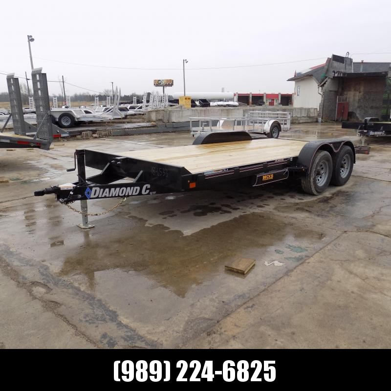 """New Diamond C Trailers 82"""" x 18' Open Car Hauler - $0 Down & Payments From $97/mo. W.A.C."""