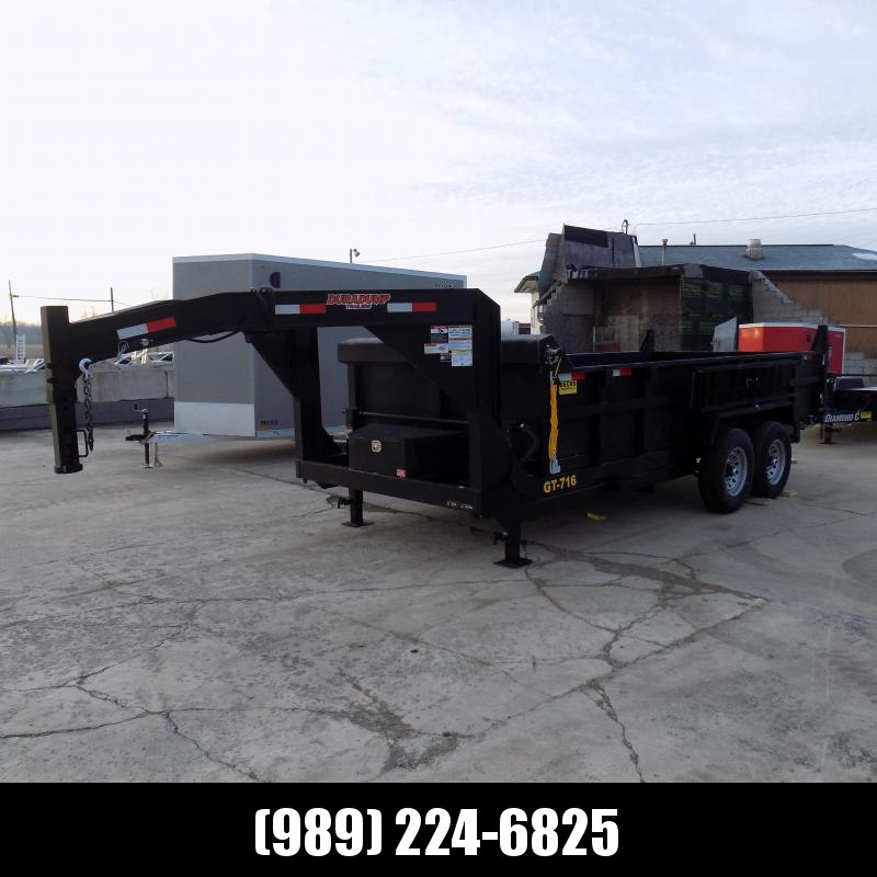 New DuraDump 7' x 16' Gooseneck Dump Trailer For Sale - $0 Down & Payments From $149/mo. W.A.C. - CLEARANCE UNIT - NOT SUBSTITUATIONS