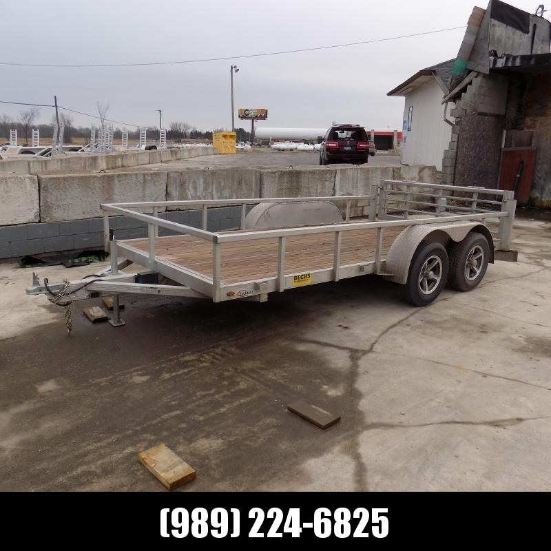 Used Legend Open Deluxe 7' x 14' Tandem Axle Aluminum Utility Trailer For Sale