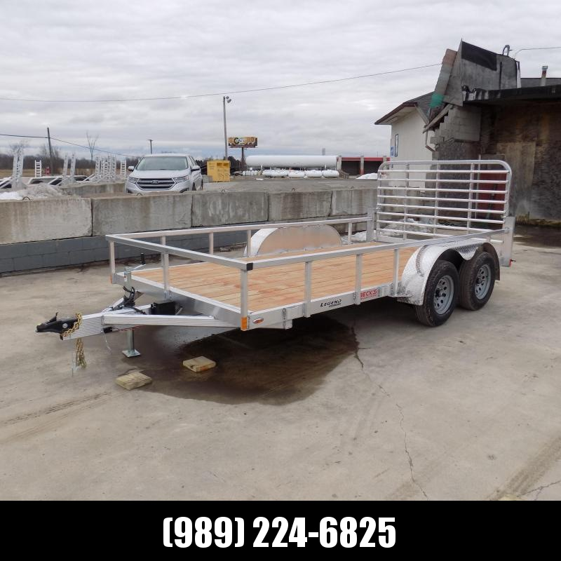 New Legend Open Deluxe 7' x 14' Aluminum Utility Trailer - $0 Down & Payments From $89/mo. W.A.C.