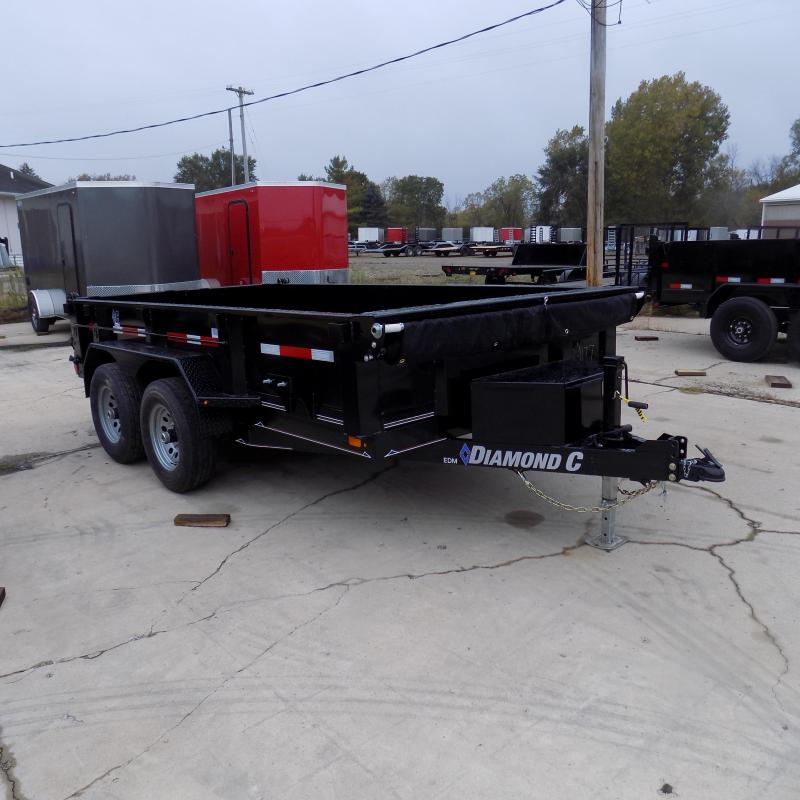 """New Diamond C Trailers 77"""" x 12' Dump Trailer For Sale - Payments from $124/mo. with $0 Down W.A.C."""