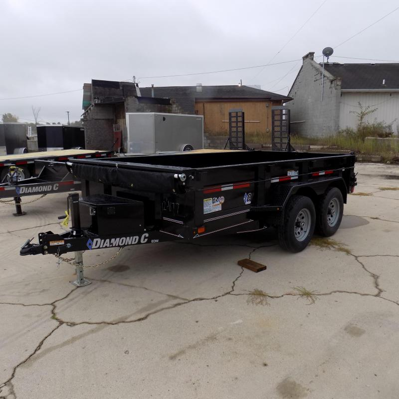 "New Diamond C Trailers 77"" x 12' Dump Trailer For Sale - Payments from $124/mo. with $0 Down W.A.C."