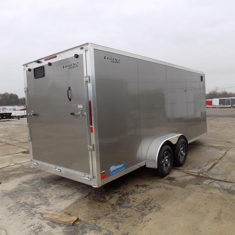 New Legend Thunder 7' x 23' Aluminum Snowmobile Trailer - $0 Down & Payments From $119/mo. W.A.C. - Best Deal Guarantee