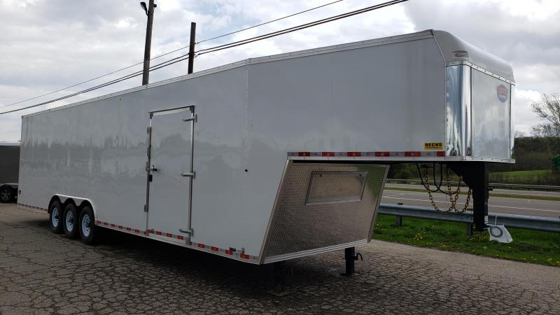 New United Trailers 8.5' x 40' Gooseneck Car / Racing Trailer - Triple Axle