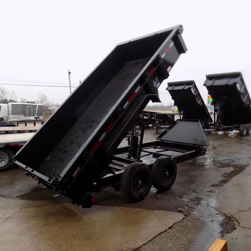 """New Diamond C 82"""" x 14' Low Profile Dump Trailer For Sale - $0 Down & Payments from $145/mo. W.A.C."""