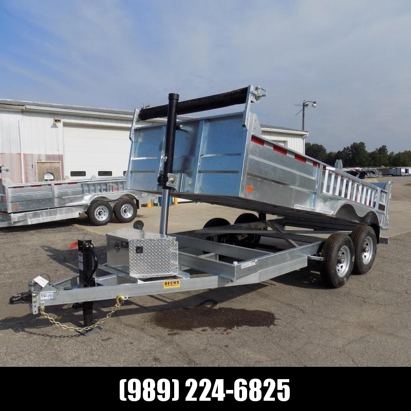 """New Galvanized 80"""" x 14' Dump Trailer with 24K Telescopic Lift - $0 Down & Payments From $145/mo. W.A.C."""