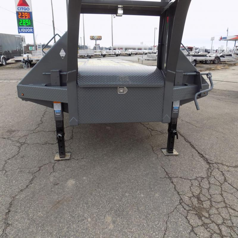 "New Diamond C Trailers 102"" x 32"" Gooseneck Trailer with MAX Ramps & 25K Weight Rating - $0 Down Financing Available"